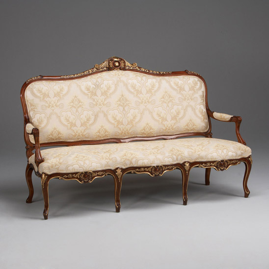 Yardley 39 s sofas for Louis xv canape sofa